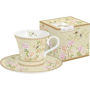 Набор чашек для кофе с блюдцами 2 штуки 0.08 л Easy Life (R2S) Дворцовый парк бежевый (EL-R1353/PALF)