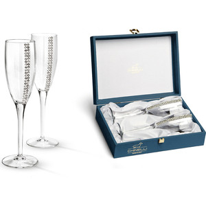 Набор бокалов для шампанского 2 штуки Гамма Регина Сваровски (GA3050100AL)