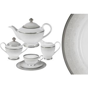 Чайный сервиз 23 предмета на 6 персон Midori Вуаль белая (MI2-K6986-Y3/23-AL) чайный сервиз вдохновение midori