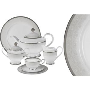 Чайный сервиз 42 предмета на 12 персон Midori Вуаль белая (MI2-K6986-Y3/42-AL) чайный сервиз вдохновение midori