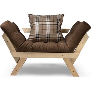 Кресло Anderson Отман сосна-коричневая рогожка