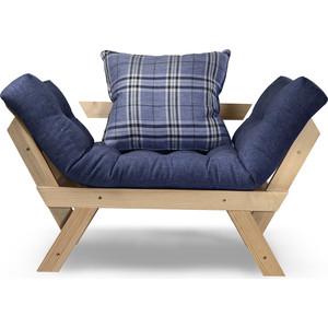 Кресло Anderson Отман сосна-синяя рогожка