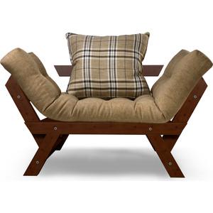Кресло Anderson Отман орех-бежевая рогожка