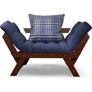 Кресло Anderson Отман орех-синяя рогожка