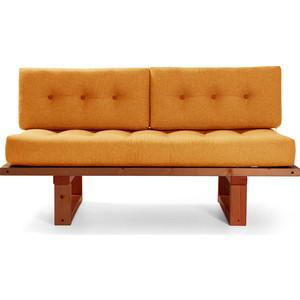 Кушетка Anderson Торн венге-оранжевая рогожка