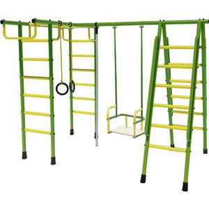 Дачный комплекс Лидер Д1-02 (металлические качели) зелёно жёлтый