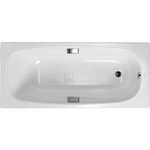 Ванна стальная Gala Vanesa 160х75 с ножками, ручками и звукоизоляцией (6736001, 6802300)