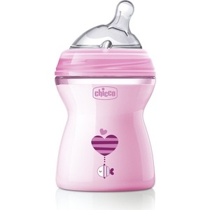Бутылочка Chicco Natural Feeling PP, 2+, 250 мл, Pink, 310205208