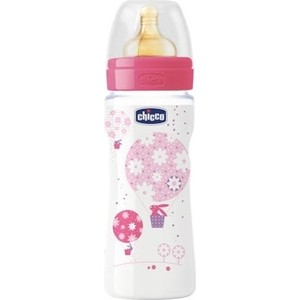 Бутылочка Chicco Well-Being Girl 4 месяцев+, 330 мл, 310205121 wilco being there 4 lp
