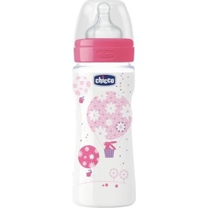 Бутылочка Chicco Well-Being Girl 4 месяцев+, 330 мл 310205122