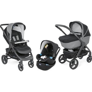 Коляска 3 в 1 Chicco StyleGo Up Jet Black стерилизатор chicco step up 00065846500000