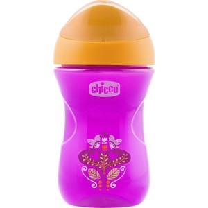 Поильник Chicco Easy Cup (носик ободок), 1 шт ,12 мес+, 266 мл , розовый, рис клубничка, 340624120