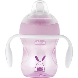 Поильник Chicco Transition Cup (силиконовый носик), 1 шт , 4 мес+, 200 мл, розовый, 340624011 все цены