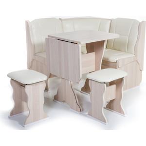 Набор мебели для кухни Бител Нарцисс - однотонный (ясень, Борнео крем, ясень)