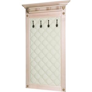 Вешалка в прихожую Мебелик Сильвия Н3 эко-кожа молочный/белый ясень