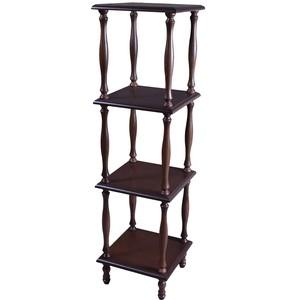 Этажерка Мебелик П 8 средне-коричневый