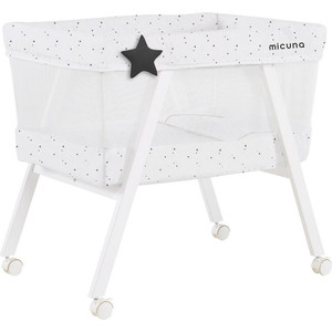 Колыбель Micuna Mini Fresh с текстилем МО-1560 white/claire