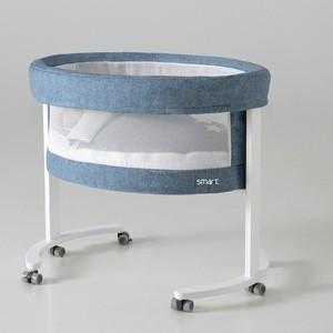 цены Колыбель Micuna SMART МО-1456 FRESH Jeans с LED системой, дерев.подст.цвет white