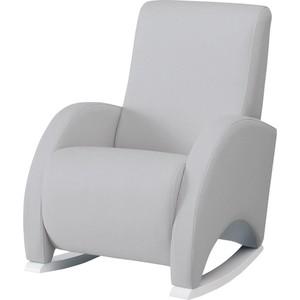 Кресло-качалка Micuna Wing/Confort white/grey искусственная кожа