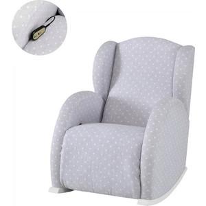 Кресло-качалка Micuna Wing/Flor Relax white/galaxy grey кресло качалка micuna wing flor white кожаная обивка цвет обивки leatherette grey искусственная кожа