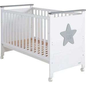 Кроватка Micuna Baby Star Микуна Бэби Стар 120х60 white/grey кроватка 120x60 micuna baby star white natural