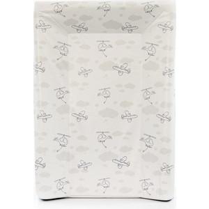 Матрас пеленальный Ceba Baby 70 см с изголовьем на кровать 120*60 см Grey Planes W-201-093-261 цена