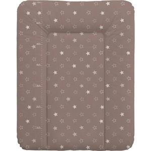 Матрас пеленальный Ceba Baby 70*50 см мягкий на комод Stars brown W-143-066-230