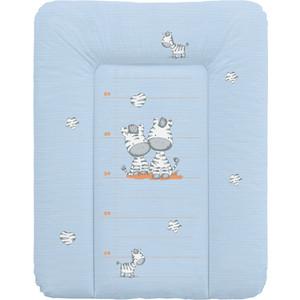 Матрас пеленальный Ceba Baby 70*50 см мягкий на комод Zebra blue W-143-002-160