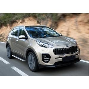 Пороги с листом d57 Rival для Hyundai Tucson (2015-н.в.) / Kia Sportage (2015-н.в.), R.2308.005 коврики салона rival для toyota rav4 2013 2015 2015 н в резина 65706001