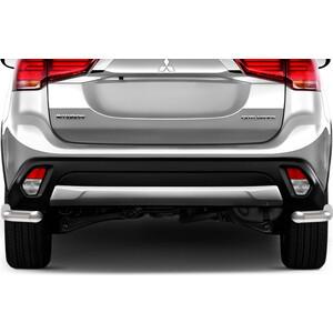 Защита заднего бампера d57 уголки Rival для Mitsubishi Outlander (2015-н.в.), R.4010.010 кронштейн заднего бампера правый 6410d337 mitsubishi