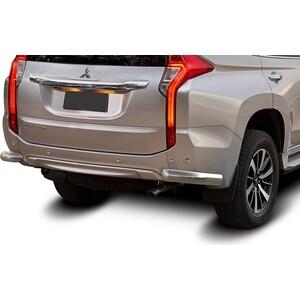 Защита заднего бампера d76 уголки Rival для Mitsubishi Pajero Sport (2016-н.в.), R.4012.008 накладки переднего бампера хромированные mitsubishi parts для mitsubishi outlander 2016