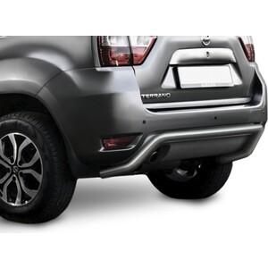 Защита заднего бампера d57 скоба Rival для Nissan Terrano (2014-н.в.), R.4119.004 защита заднего бампера d57 уголки комплект крепежа rival для geely atlas 2018