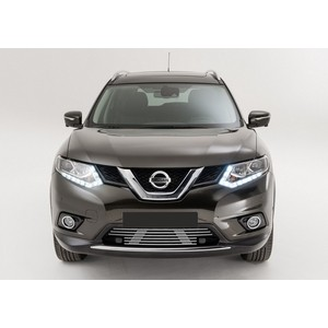 Решетка бампера d10 Rival для Nissan X-trail (без передних парктроников) (2015-2018), G.4103.001