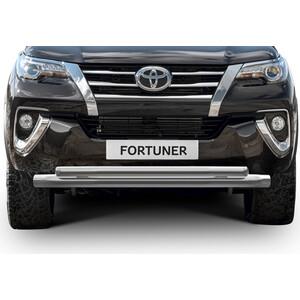Защита переднего бампера d76+d57 Rival для Toyota Fortuner (2017-н.в.), R.5720.001 защита заднего бампера d57 уголки rival для toyota rav4 2015 н в r 5718 006