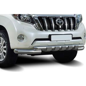 цена на Защита переднего бампера d76+d57 с профильной защитой картера Rival для Toyota Land Cruiser Prado 150 (2009-2013 / 2013-2017), R.5704.034