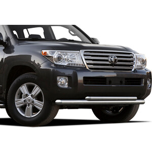 Защита переднего бампера d76+d57 Rival для Toyota Land Cruiser 200 (2012-2015), R.5713.004