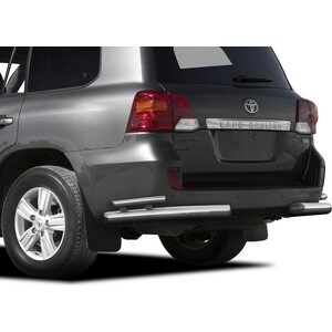 цена на Защита заднего бампера d76+d42 уголки Rival для Toyota Land Cruiser 200 (2012-2015), R.5713.017