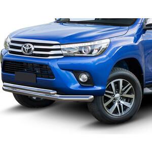 Защита переднего бампера d76+d57 Rival для Toyota Hilux (2015-н.в.), R.5716.001 защита заднего бампера d57 уголки rival для toyota rav4 2015 н в r 5718 006