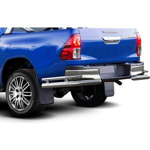 цена на Защита заднего бампера d76+d42 уголки Rival для Toyota Hilux (2015-н.в.), R.5716.009