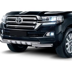 цена на Защита переднего бампера d76+d57 с профильной защитой картера Rival для Toyota Land Cruiser 200 (2015-н.в.), R.5717.004