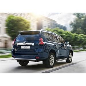 Защита заднего бампера 75x42 овал Rival для Toyota Land Cruiser 150 Prado (2017-н.в.), R.5721.009 цена