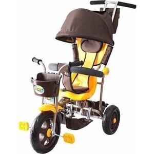 Велосипед трехколесный GALAXY Л001 Лучик с капюшоном коричнево-желтый цена