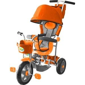 Велосипед трехколесный GALAXY Л001 Лучик с капюшоном оранжевый цена