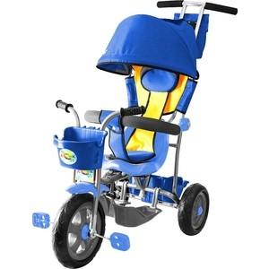 Велосипед трехколесный GALAXY Л001 Лучик с капюшоном синий цена
