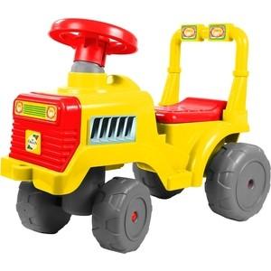 Каталка RT ОР931к Трактор В желто-красный каталка трактор с педалями turbo 52674