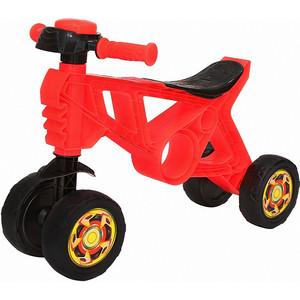Каталка-беговел RT ОР188 Самоделкин 4 колеса с клаксоном красная каталка беговел rt самоделкин пластик от 1 года на колесах бирюзовый