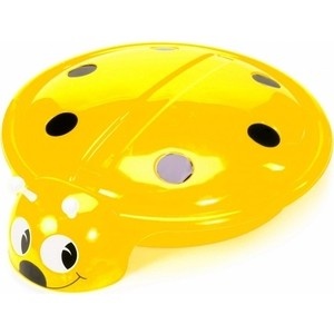 Песочница- бассейн RT С 203 Божья Коровка с крышкой цв.жёлтый, диаметр 92 см