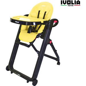 Стульчик для кормления Ivolia LOVE 02 4 колеса yellow недорго, оригинальная цена