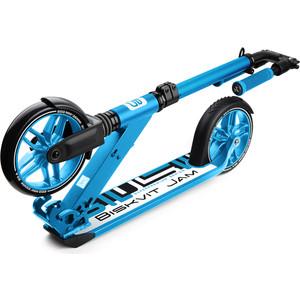 Самокат 2 - х колесный Biskvit Jam с большими колесами и амортизатором Super-Premium 1 (синий)