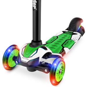 Самокат 3 - х колесный Small Rider со свет. колесами Turbo (зеленый) самокат small rider randy flash со складной ручкой 3 колесный со светящимися колесами цвет зеленый